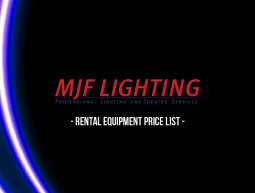 MJF Lighting Price List